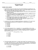 AP Chemistry Exam- Gases