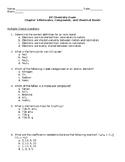 AP Chemistry Exam- Molecules, Compounds, and Chemical Bonds
