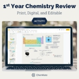 AP Chemistry First Year Review Summer Assignment EDITABLE