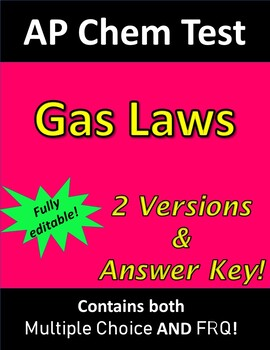 AP Chemistry Gas Laws Test