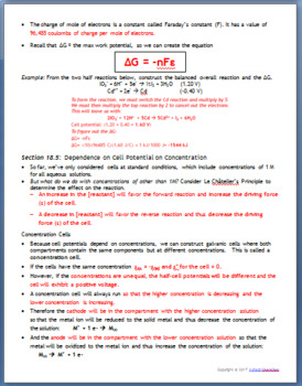 AP Chemistry Guided Notes: Electrochemistry
