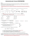 AP Chemistry Intermolecular Forces Homework Handout with A