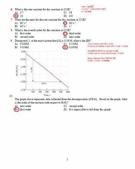 AP Chemistry Kinetics Test