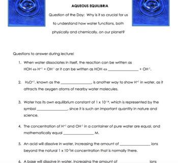 AP Chemistry Lesson Plan:  Aqueous Equilibrium Part 2