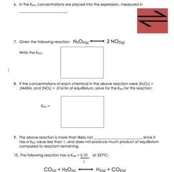 AP Chemistry Lesson Plan:  Chemical Equilibrium