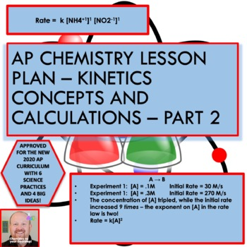 AP Chemistry Lesson Plan:  Kinetics Concepts and Calculations Part 2