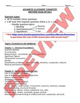 AP Chemistry: Midterm Review Bundle