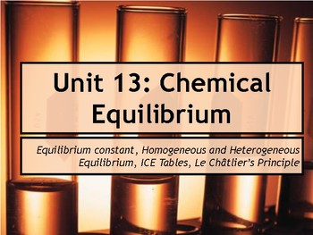 AP Chemistry Power Point: Chemical Equilibrium