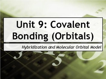 AP Chemistry Power Point: Hybridization and Molecular Orbital Theory