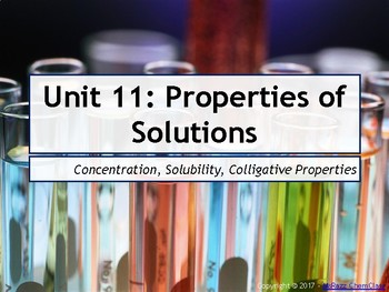 AP Chemistry Power Point: Properties of Solutions