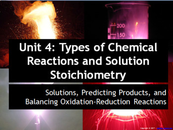 AP Chemistry Power Point: Solution Stoichiometry and Chemical Reactions