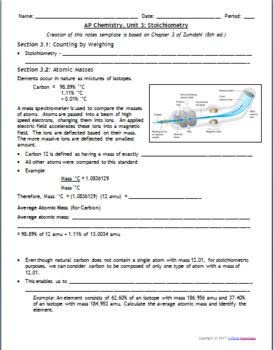 AP Chemistry Power Point: Stoichiometry