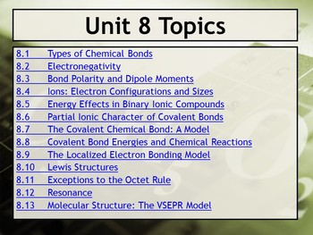 AP Chemistry Power Point and Guided Notes: Bonding - General Concepts