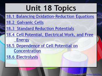 AP Chemistry Power Point and Guided Notes: Electrochemistry