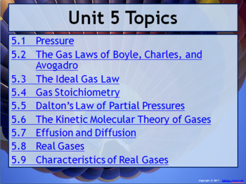 AP Chemistry Power Point and Guided Notes: Gases