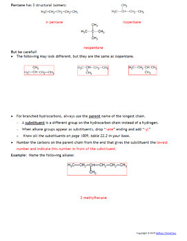 AP Chemistry Guided Notes: Organic Chemistry