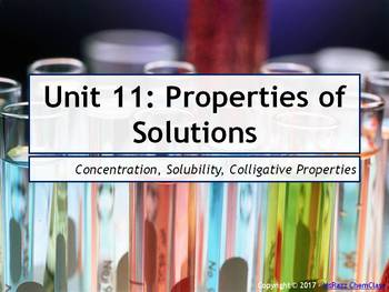 AP Chemistry Power Point and Guided Notes: Properties of Solutions