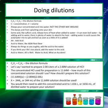 AP Chemistry PowerPoint: Good Lab Techniques