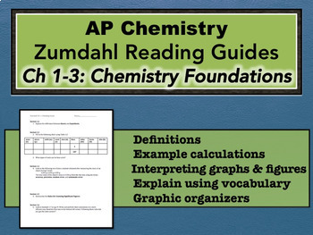 AP Chemistry Reading Guide Zumdahl Chapters 1-3 - Foundations Chemistry
