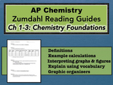 AP Chemistry Reading Guide Zumdahl Chapters 1-3 - Foundati