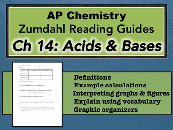 AP Chemistry Reading Guide Zumdahl Chapter 14 - Acids & Bases
