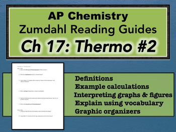 AP Chemistry Reading Guide Zumdahl Chapter 17 - Thermo #2