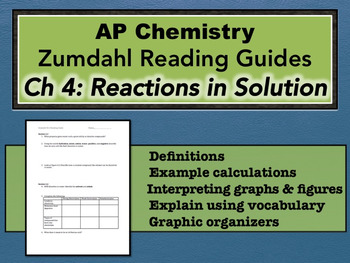 AP Chemistry Reading Guide Zumdahl Chapter 4 - Reactions in Solution