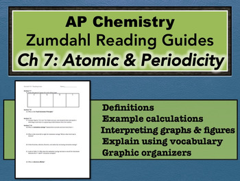 AP Chemistry Reading Guide Zumdahl Chapter 7 - Atomic Structure & Periodicity