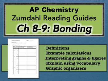 AP Chemistry Reading Guide Zumdahl Chapter 8-9 - Bonding