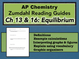 AP Chemistry Reading Guide Zumdahl Chapters 13 & 16 - Equilibrium