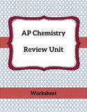 AP Chemistry Review Freebie