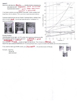AP Chemistry Solutions Guided Notes to go with Powerpoint (includes ANSWER KEY)