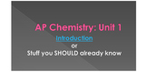 AP Chemistry Unit 1 PowerPoint - Stoichiometry and Measurement