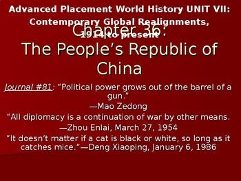 AP Cold War: Cold War China