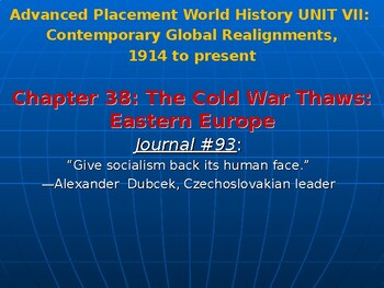 AP Cold War's End: Detente and Solidarity