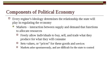 AP Comparative Government Concepts PowerPoint - Political Economy