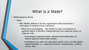 AP Comparative Government Concepts PowerPoint - States
