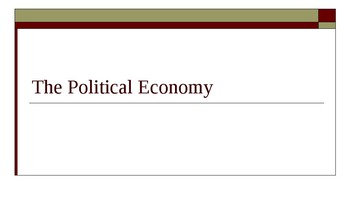 AP Comparative Government Concepts PowerPoint - The Political Economy