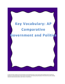 AP Comparative Government Essential Vocabulary List
