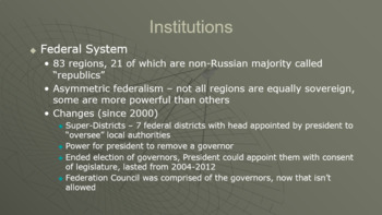 AP Comparative Government Russia PowerPoint
