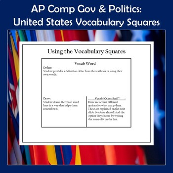 AP Comparative Government and Politics Vocabulary Squares-United States
