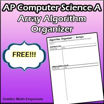 AP Computer Science - Array Algorithms