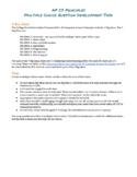 AP Computer Science Principles Multiple Choice Question De