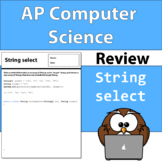 AP Computer Science String Array Review