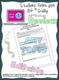 AP® Biology Review:  Top 3 Topics in AP® Daily