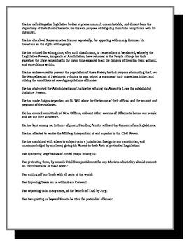 AP - Declaration of Independence analysis
