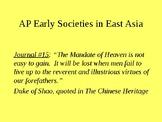 AP Early Societies in East Asia