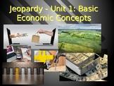 AP Economics Jeopardy - Unit 1 - Basic Economic Concepts