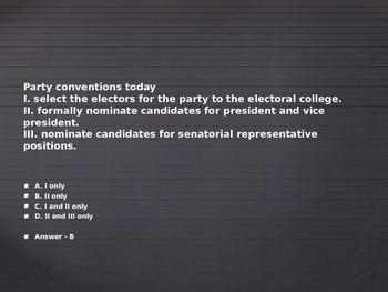 AP Elections Unit Review Game
