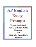 AP English Essay Prompt: Textual Analysis of Nature and Walden